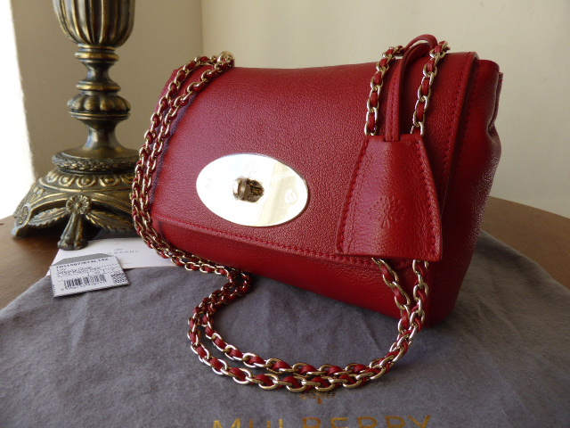 Mulberry Lily (Regular) in Poppy Red Glossy Goat Leather - New