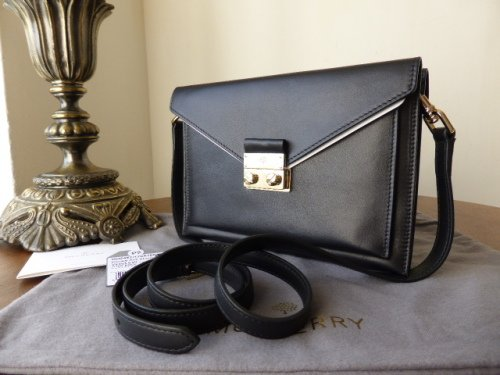 Mulberry Small Kensal in Black Velvet Calf - New