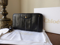 Chloe Heloise Continental Purse in Glazed Black Calfskin