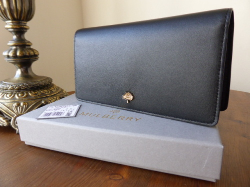 Mulberry Tree Slim Wallet in Black Lamb Nappa - New*