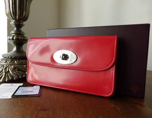 mulberry long locked purse crimson spazzalato