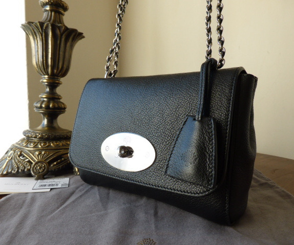 mulberry lily black glossy goat new