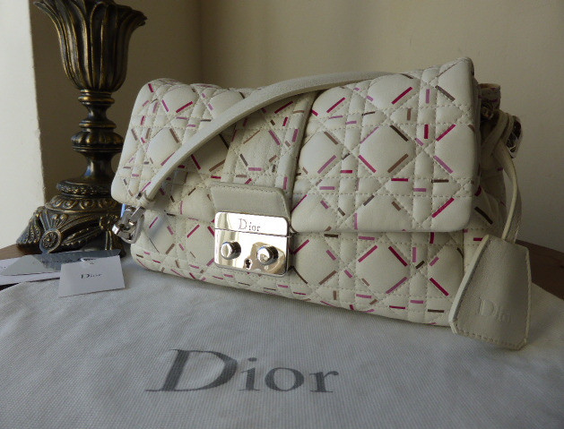 dior new lock latte papaya lambskin