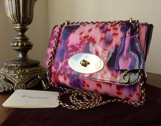 mulberry lily plum loopy leopard patent