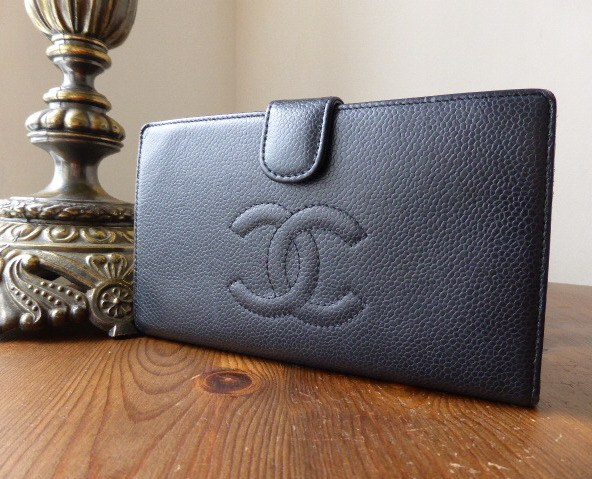 chanel framed purse blk caviar