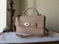 Mulberry Bayswater Shoulder in Oatmeal Micrograin Leather