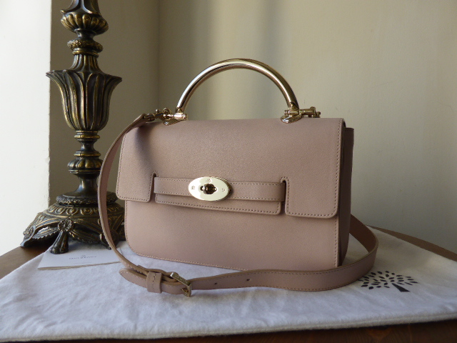 Mulberry Bayswater Shoulder with Feature Top Handle in Oatmeal Micrograin L