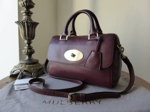 Mulberry Del Rey (Small) in Oxblood Silky Nappa - New*
