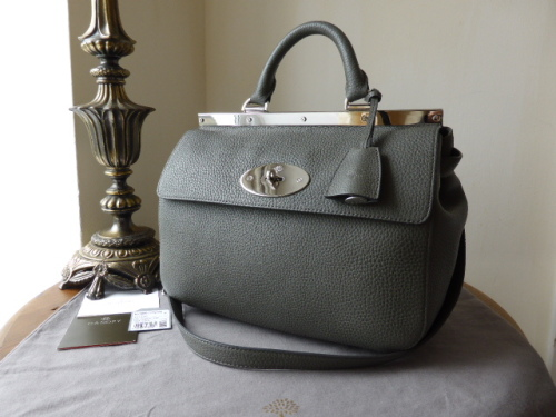 Mulberry Small Suffolk in Pavement Grey Soft Grain Leather