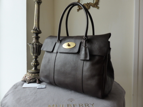 Mulberry Bayswater in Chocolate Natural Leather (ref NER)