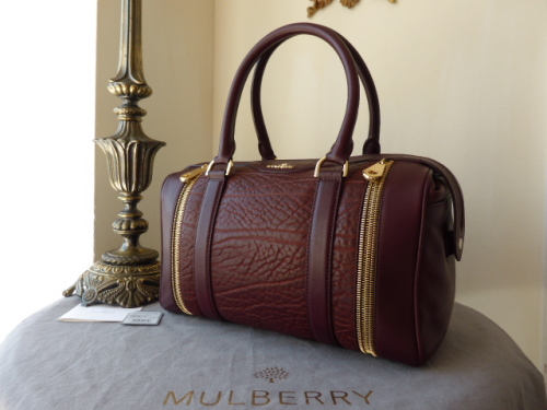 Mulberry Tasha in Oxblood Shrunken Calf Leather