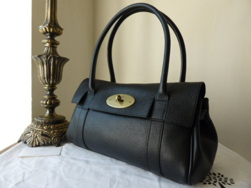 Mulberry East West Bayswater in Black Grainy Print Leather - As New