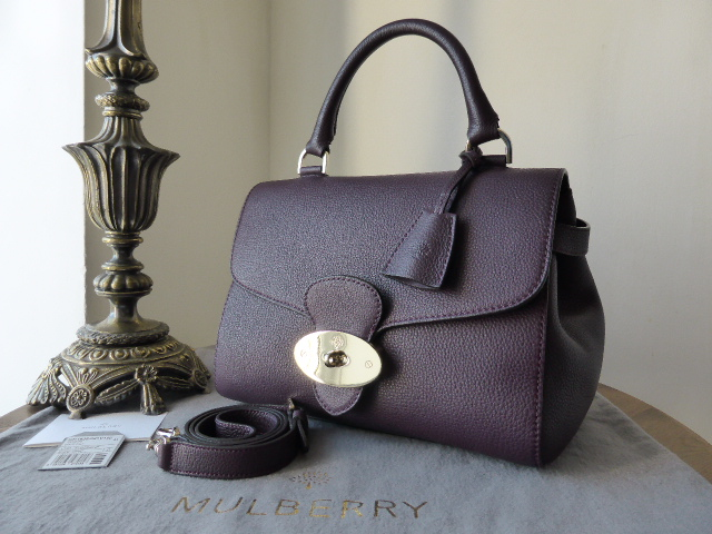 Mulberry Primrose in Aubergine Grainy Print Leather - As New