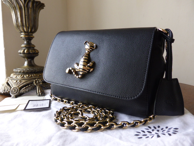 Mulberry Lily Tiger Plaque in Black Soft Matte Leather