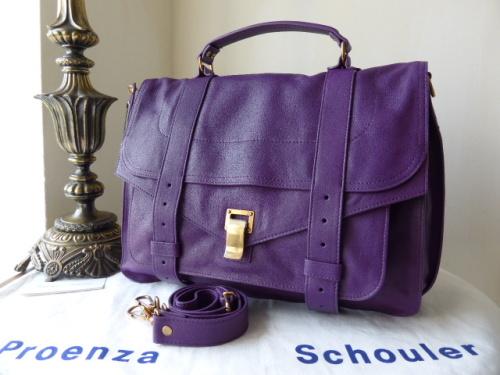 Proenza Schouler PS1 Large in Veruca Salt (Violet) - New*