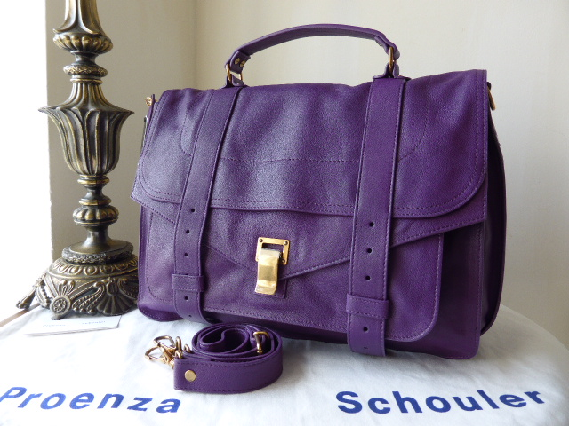 Proenza Schouler PS1 Large in Veruca Salt (Violet) - New*