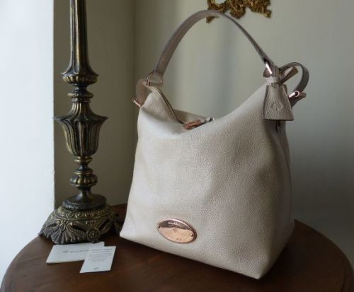 Mulberry Bella Hobo in Marshmallow White Soft Spongy Leather with Rose Gold