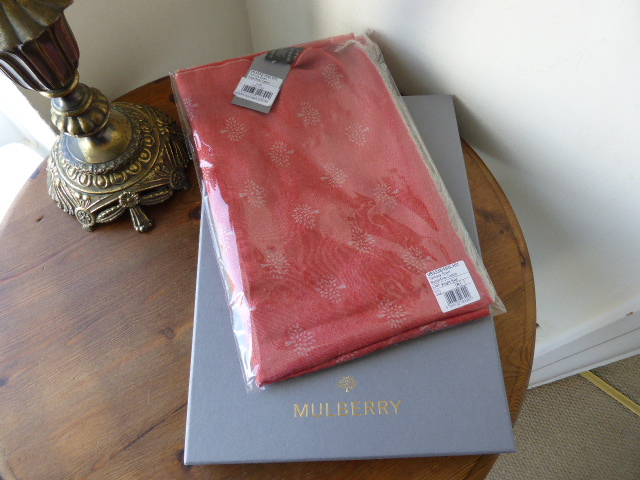 Mulberry Tamara Scarf in Bright Red - New