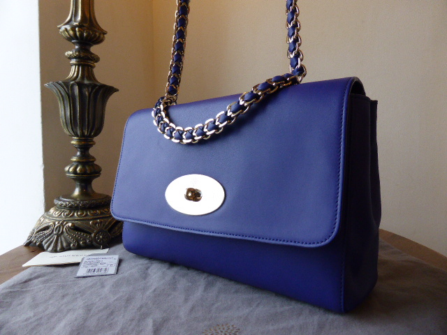 Mulberry Cecily Medium in Cosmic Blue Polished Calf Leather - New