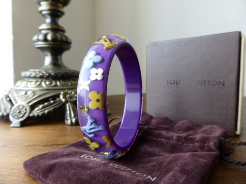 Louis Vuitton Inclusion Bracelet in Purple & Yellow (Medium / Small)