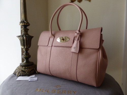 Mulberry Bayswater Blush Glossy Goat Leather - New