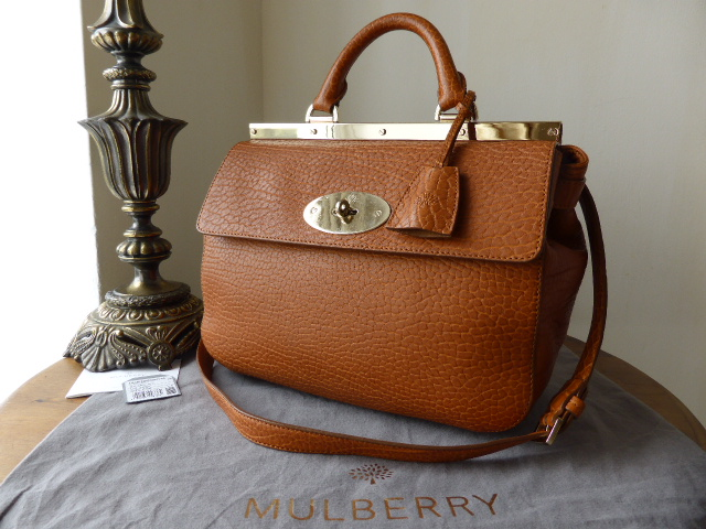 Mulberry Small Suffolk in Ginger Shrunken Calf Leather