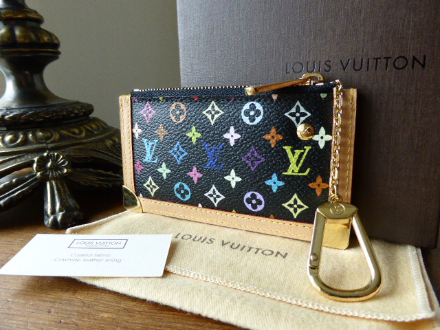 Louis Vuitton Porte-Clefs Pouch in Black Multicolore - New