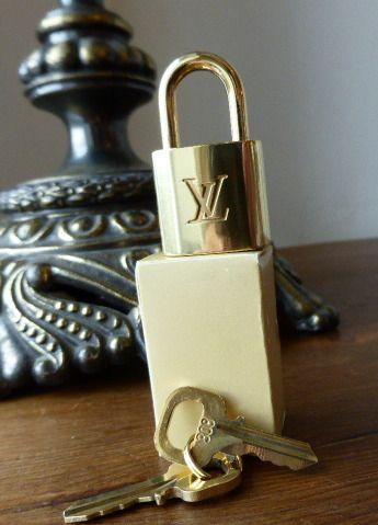 Louis Vuitton Golden Brass Padlock & 2 Keys (308) - New
