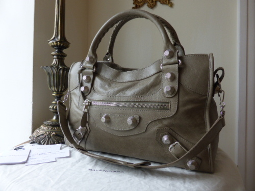 Balenciaga Giant City in PapyrusLambskin with Silver Hardware