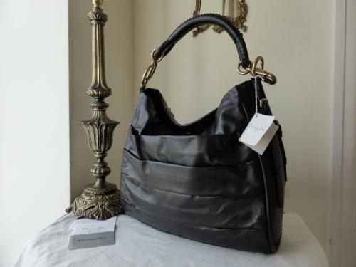 Dior Libertine Medium Hobo in Black Lambskin - New
