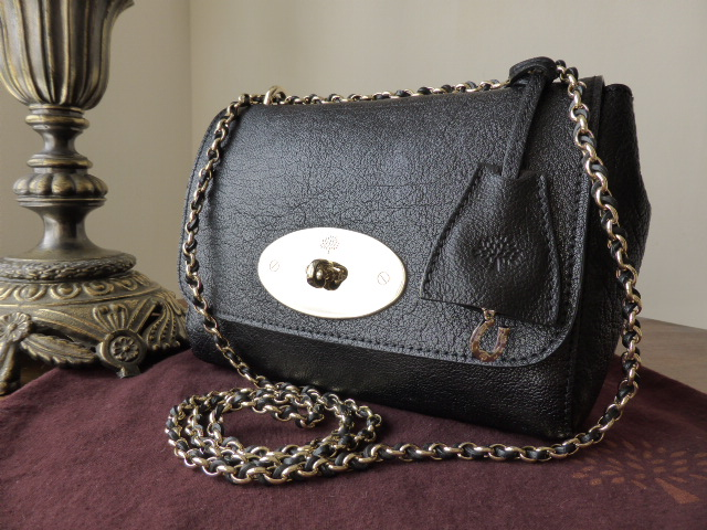 Mulberry Lily (Regular) in Black Buffalo Shine Leather