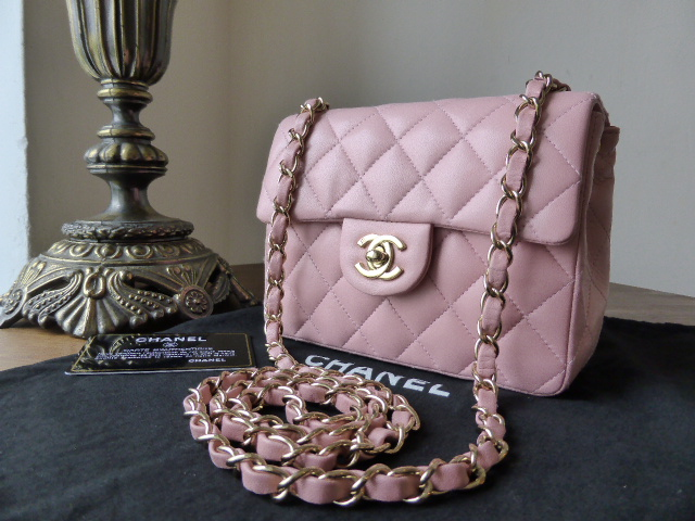 937d2849ca8d Chanel Mini Timeless Classic Flap Bag in Baby Pink Lambskin with Gold Hardw