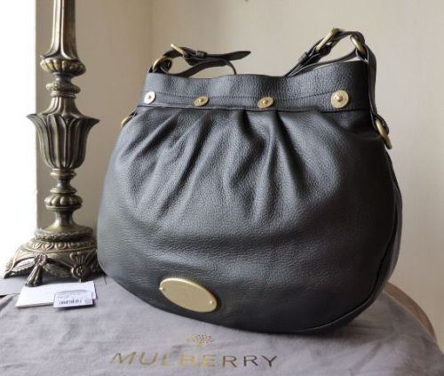 Mulberry Mitzy Messenger in Black Pebbled Leather - New