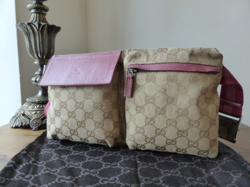 Gucci Belt Bag with Pink Leather Trim