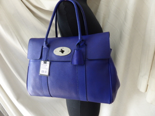 Mulberry Bayswater in Electric Blue Soft Matte Leather - New