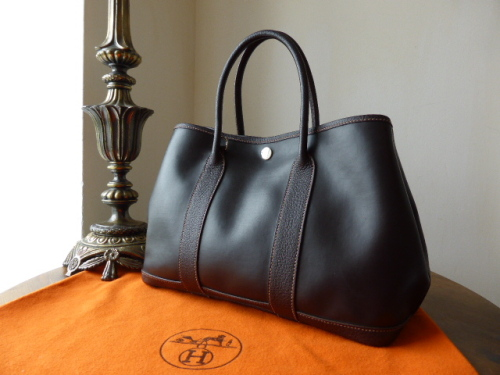 Hermés Garden Party PM in Amazonia & Buffalo Leather.