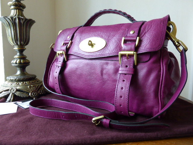 Mulberry Regular Alexa in Plum Soft Buffalo Leather
