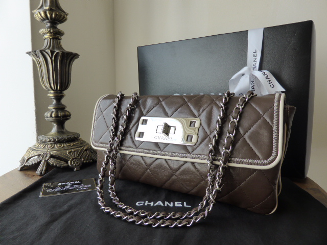 Chanel East West Mademoiselle Flap in Chocolate Quilted Calfskin