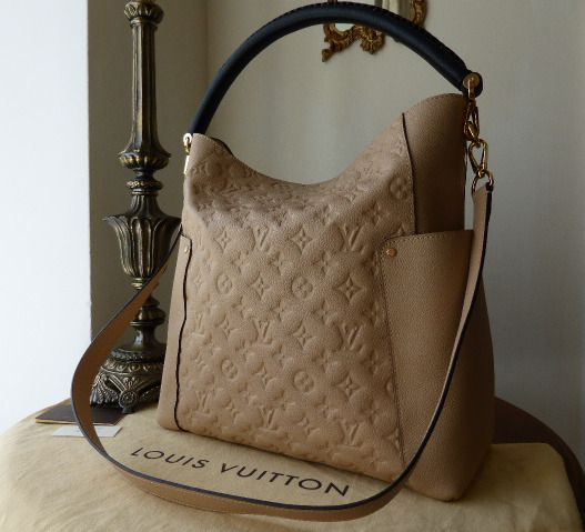 Louis Vuitton Bagatelle in Monogram Empreinte Dune  - NEW