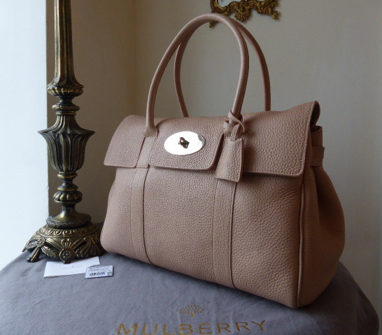 mulberry bayswater ballet pink soft grain new