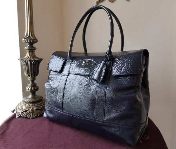 mulberry bayswater holiday nightshade blue spongy patent