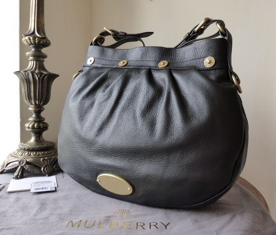 mulberry mitzy messenger black pebbled new