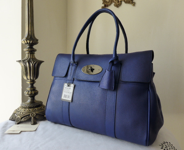 mulberry bayswater electric blue soft matte new