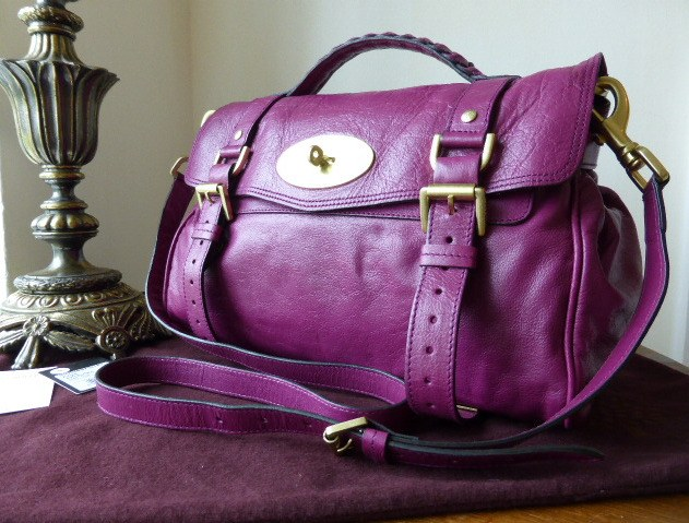 mulberry alexa regular plum soft buffalo