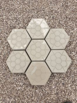 Hexagon Shaped Paving