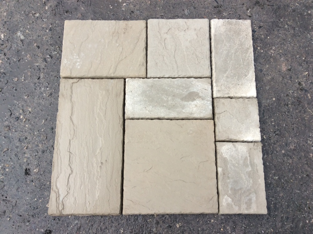 Riven York Stone Flags 1m² Mixed Patio Pack