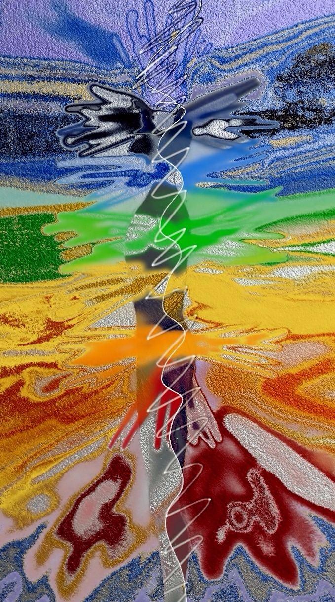 'Wild Chakras' - Art by Delcia McNeil - Psychotherapist Supervisor, Mentor, Healer, Artist