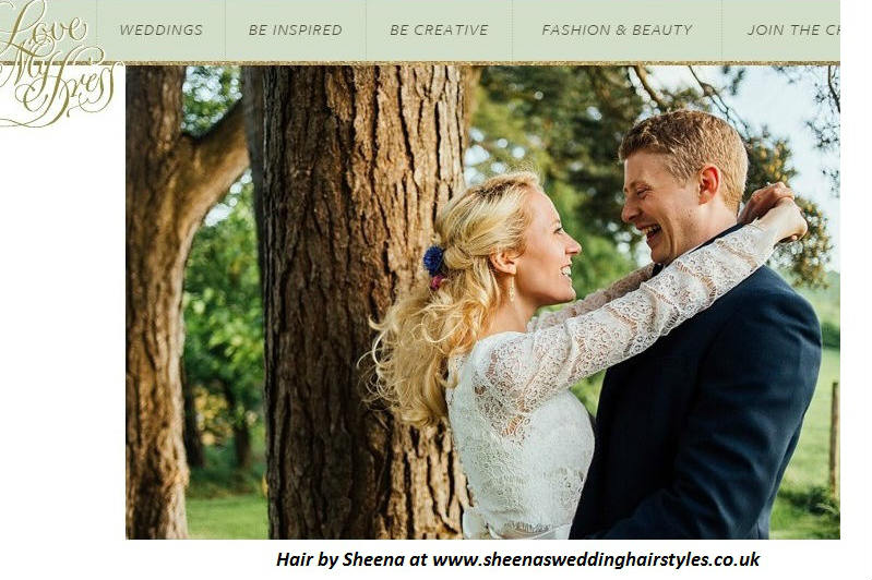 wedding hair by sheena featured on love my dress.kate&matt