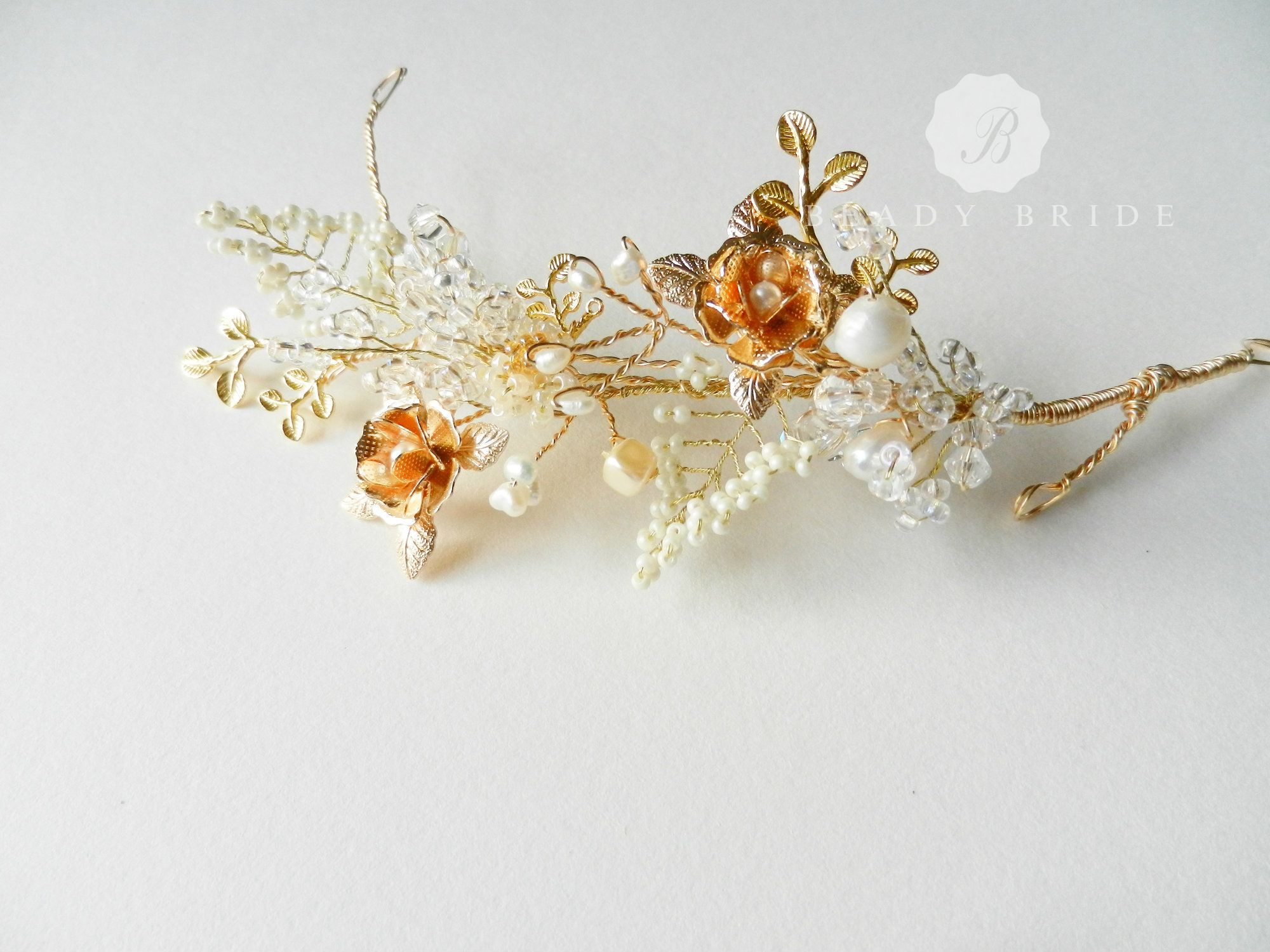 Delicate and unique bridal Hair accessories by Beady Bride-UK