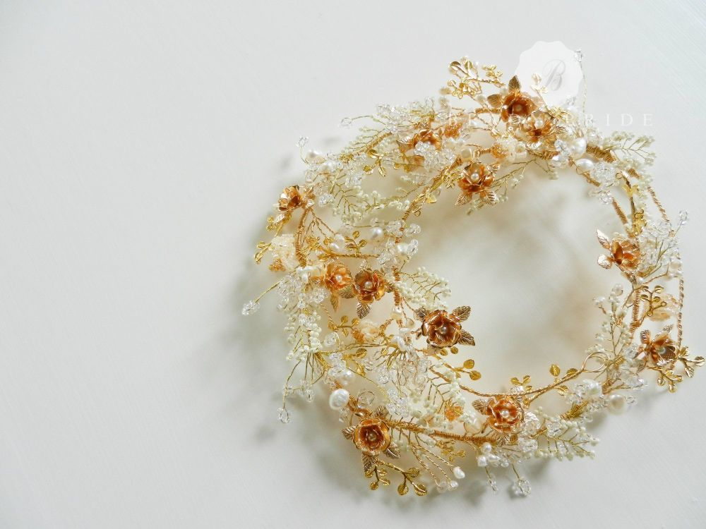 Roseanne-Wedding & bridal hair garland by Beady Bride-UK (10)